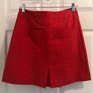 LOFT Orange Skirt